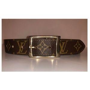 *AUTH* Vintage LOUIS VUITTON Monogram Belt | Sz 24